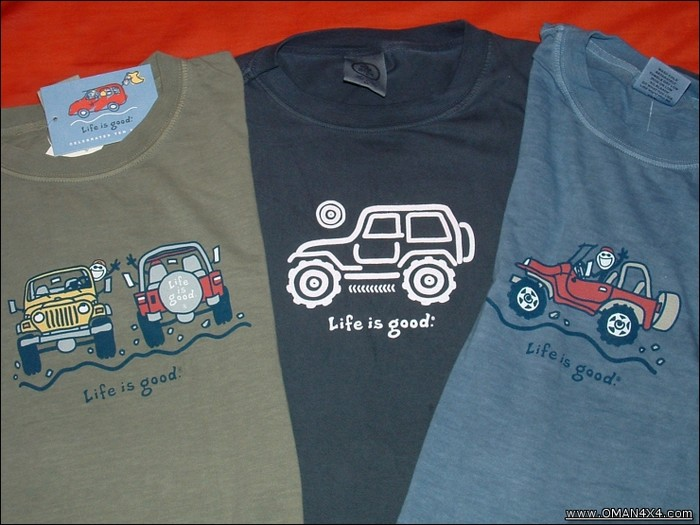 Thumbs UP for AllthingsJeep com - Life is Good Shirts